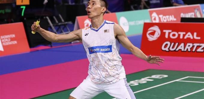 Highlights of men's singles first round matches at badminton worlds