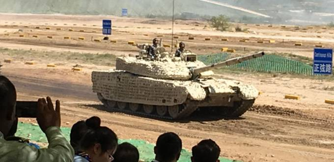 Land forces display military might at arms exhibition