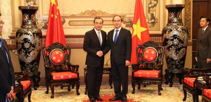 China's state councilor Wang Yi meets Vietnam's senior official