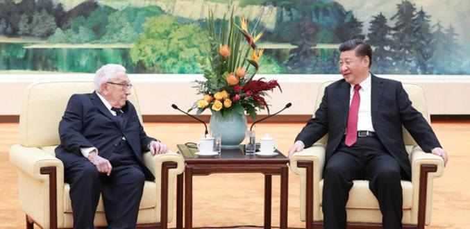President Xi meets Henry Kissinger