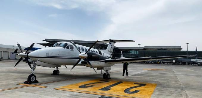 King Air 350 completes short-distance high plateau flight in China